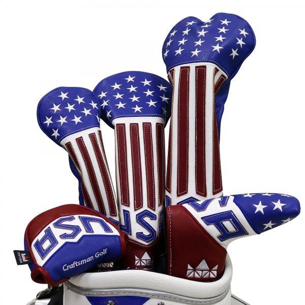 ★税込★CRAFTSMAN クラフトマン ヘッドカバー ドライバー用 USA flag|rakushogolf|07