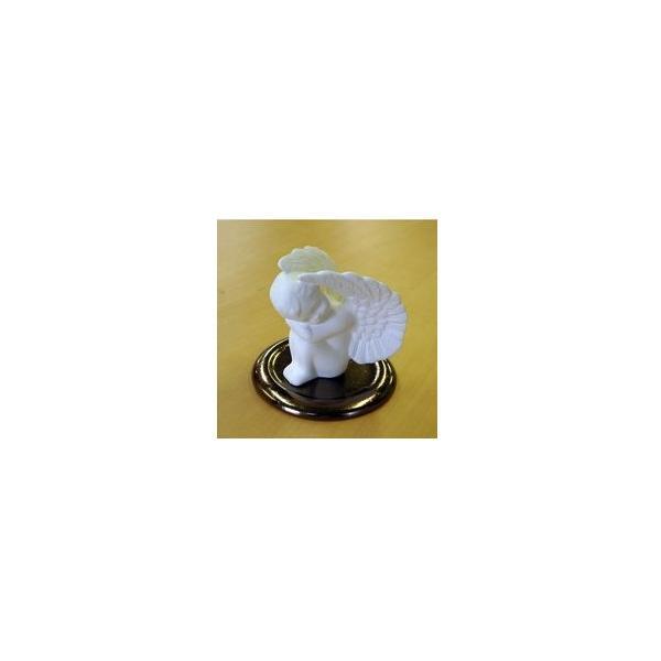 精油を優しく芳香させるポマンダー ■ 守護天使(皿付き) 【フェアトレード製品】