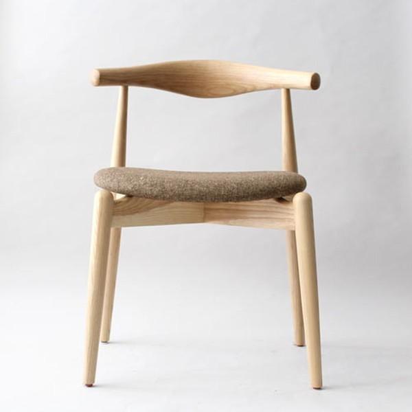 ダイニングチェア ハンス・J ・ウェグナー エルボチェア ファブリック 布シート 北欧モダン デザイナーズ パーソナルチェア 椅子 いす イス 座面高さ48cm