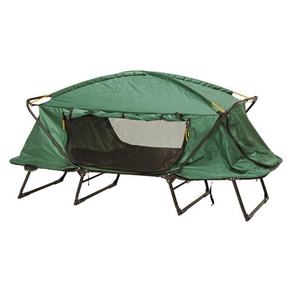 テント キャンピングベッド 高床式 コット シェルター ワンタッチテント アウトドア キャンプ 4面メッシュ 撥水加工 蚊帳 シングルサイズ