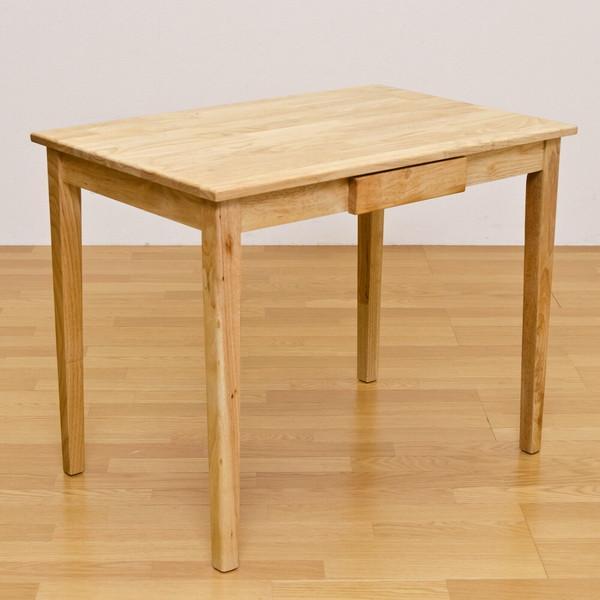 テーブル 机 デスク 作業台 ダイニングテーブル ナチュラル ホワイト 自然素材 オーガニック 引き出し おしゃれ シンプル デザイン コンパクト 90cmx60cm