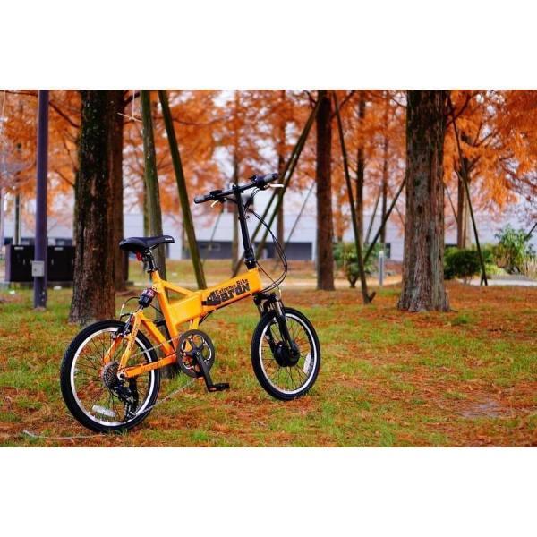 【折りたたみ電動自転車】バロン-X 20インチ 電動アシスト自転車に見えない 大容量13Ahバッテリーが人気!スポーツ系電動自転車|rakusuku|11