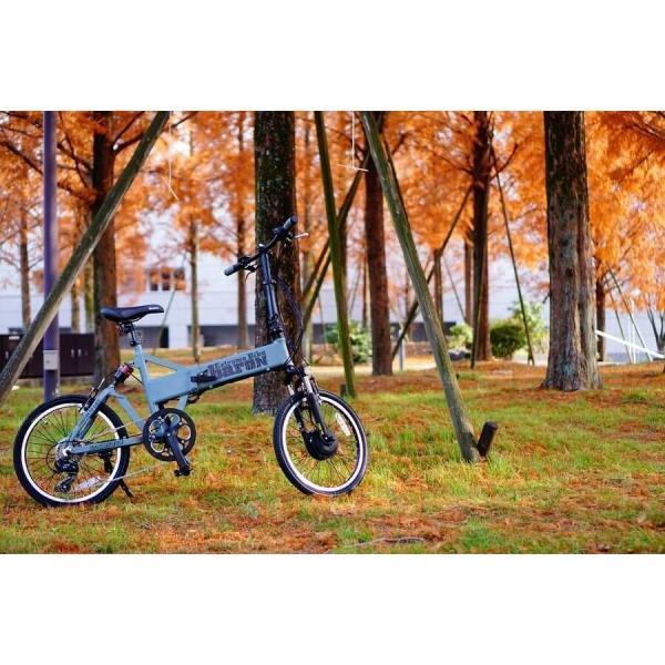 【折りたたみ電動自転車】バロン-X 20インチ 電動アシスト自転車に見えない 大容量13Ahバッテリーが人気!スポーツ系電動自転車|rakusuku|12