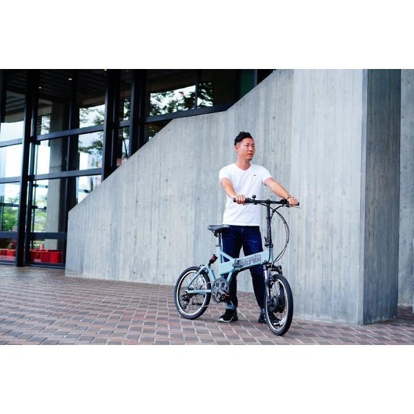 【折りたたみ電動自転車】バロン-X 20インチ 電動アシスト自転車に見えない 大容量13Ahバッテリーが人気!スポーツ系電動自転車|rakusuku|13