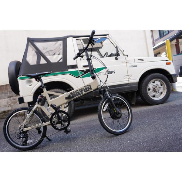 【折りたたみ電動自転車】バロン-X 20インチ 電動アシスト自転車に見えない 大容量13Ahバッテリーが人気!スポーツ系電動自転車|rakusuku|07