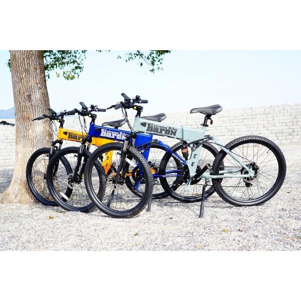 [折りたたみ電動自転車]バロンX 26インチ スポーツ系電動自転車 大容量13Ahバッテリーが人気 電動自転車に見えない|rakusuku|02