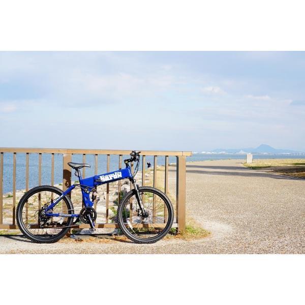 [折りたたみ電動自転車]バロンX 26インチ スポーツ系電動自転車 大容量13Ahバッテリーが人気 電動自転車に見えない|rakusuku|11