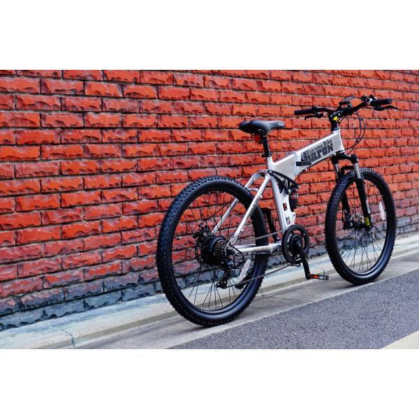 [折りたたみ電動自転車]バロンX 26インチ スポーツ系電動自転車 大容量13Ahバッテリーが人気 電動自転車に見えない|rakusuku|12