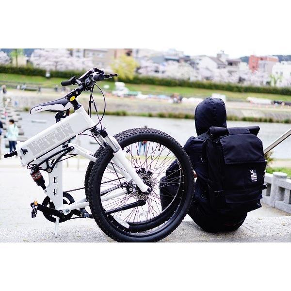 [折りたたみ電動自転車]バロンX 26インチ スポーツ系電動自転車 大容量13Ahバッテリーが人気 電動自転車に見えない|rakusuku|13