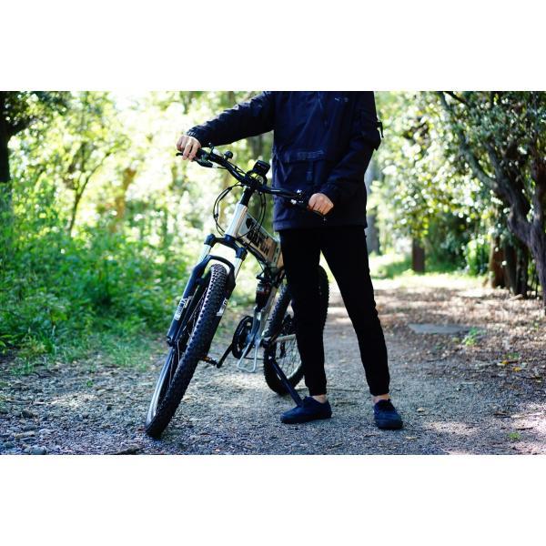 [折りたたみ電動自転車]バロンX 26インチ スポーツ系電動自転車 大容量13Ahバッテリーが人気 電動自転車に見えない|rakusuku|15