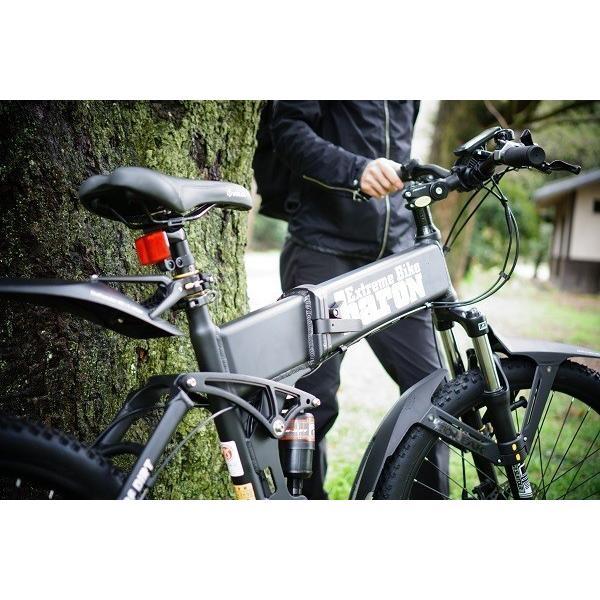 [折りたたみ電動自転車]バロンX 26インチ スポーツ系電動自転車 大容量13Ahバッテリーが人気 電動自転車に見えない|rakusuku|16