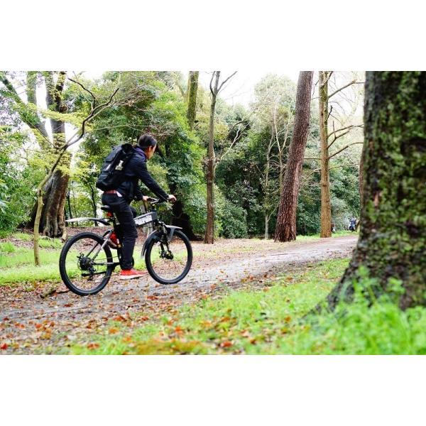 [折りたたみ電動自転車]バロンX 26インチ スポーツ系電動自転車 大容量13Ahバッテリーが人気 電動自転車に見えない|rakusuku|17