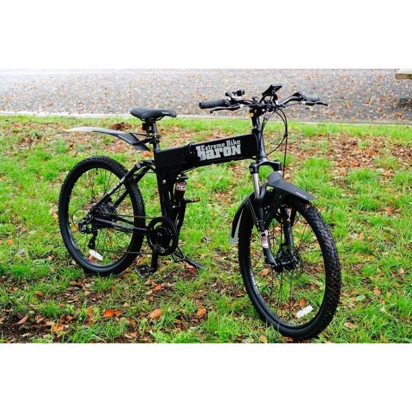 [折りたたみ電動自転車]バロンX 26インチ スポーツ系電動自転車 大容量13Ahバッテリーが人気 電動自転車に見えない|rakusuku|18