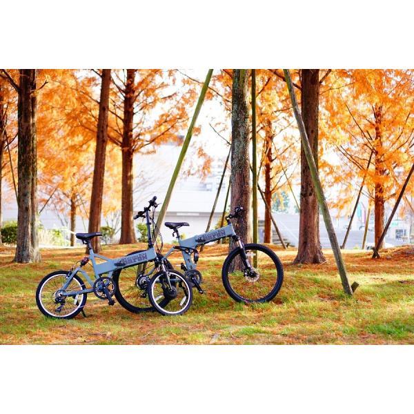 [折りたたみ電動自転車]バロンX 26インチ スポーツ系電動自転車 大容量13Ahバッテリーが人気 電動自転車に見えない|rakusuku|04