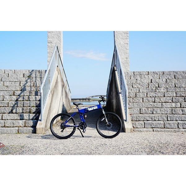 [折りたたみ電動自転車]バロンX 26インチ スポーツ系電動自転車 大容量13Ahバッテリーが人気 電動自転車に見えない|rakusuku|05