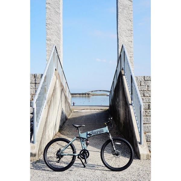 [折りたたみ電動自転車]バロンX 26インチ スポーツ系電動自転車 大容量13Ahバッテリーが人気 電動自転車に見えない|rakusuku|07