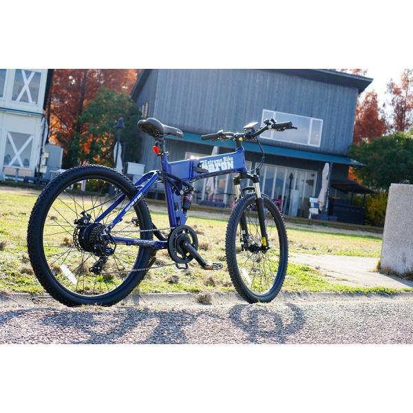 [折りたたみ電動自転車]バロンX 26インチ スポーツ系電動自転車 大容量13Ahバッテリーが人気 電動自転車に見えない|rakusuku|08