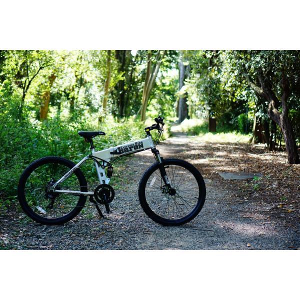 [折りたたみ電動自転車]バロンX 26インチ スポーツ系電動自転車 大容量13Ahバッテリーが人気 電動自転車に見えない|rakusuku|09