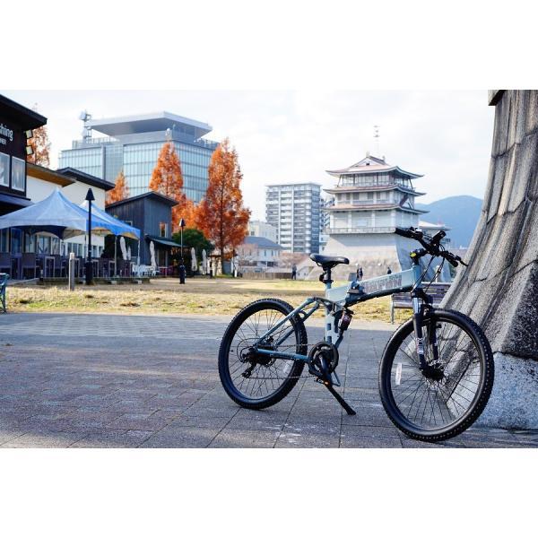 [折りたたみ電動自転車]バロンX 26インチ スポーツ系電動自転車 大容量13Ahバッテリーが人気 電動自転車に見えない|rakusuku|10