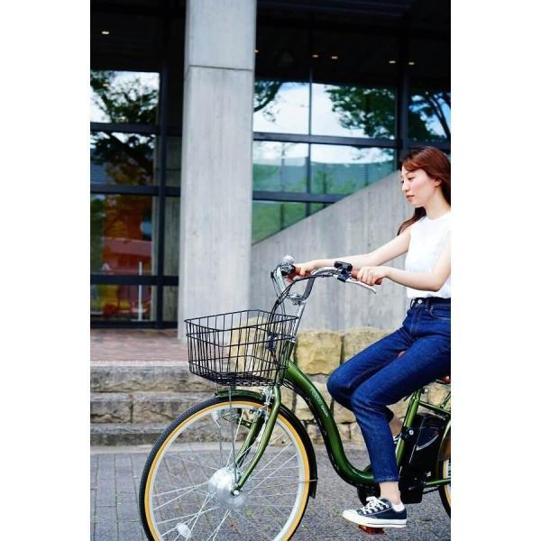 [いま通勤買物に最適]電動自転車おしゃれ ルルベ 26インチ リチウムイオンバッテリー 子供乗せ 安いだけじゃない おしゃれ 低サドル 乗りやすい rakusuku 11