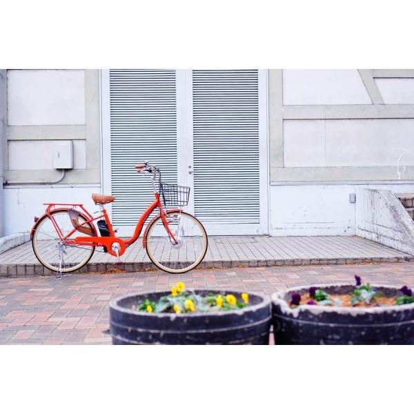 [いま通勤買物に最適]電動自転車おしゃれ ルルベ 26インチ リチウムイオンバッテリー 子供乗せ 安いだけじゃない おしゃれ 低サドル 乗りやすい rakusuku 14