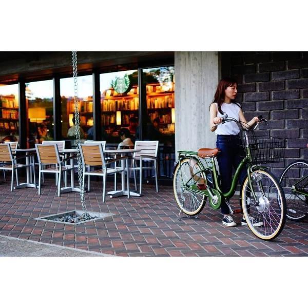 [いま通勤買物に最適]電動自転車おしゃれ ルルベ 26インチ リチウムイオンバッテリー 子供乗せ 安いだけじゃない おしゃれ 低サドル 乗りやすい rakusuku 16