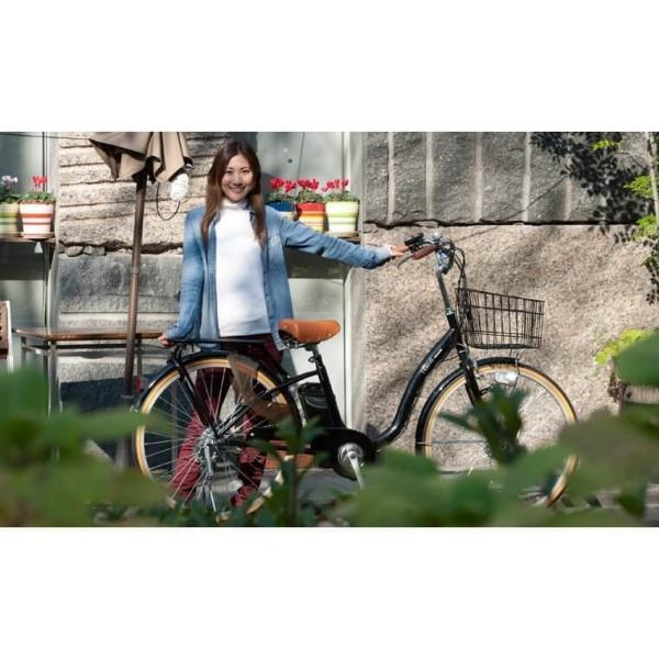 ポイント5倍!電動自転車 ルルベ 26インチ リチウムイオンバッテリー 子供乗せ 安いだけじゃない おしゃれ 低サドル 乗りやすい|rakusuku|08