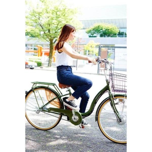 [いま通勤買物に最適]電動自転車おしゃれ ルルベ 26インチ リチウムイオンバッテリー 子供乗せ 安いだけじゃない おしゃれ 低サドル 乗りやすい rakusuku 09