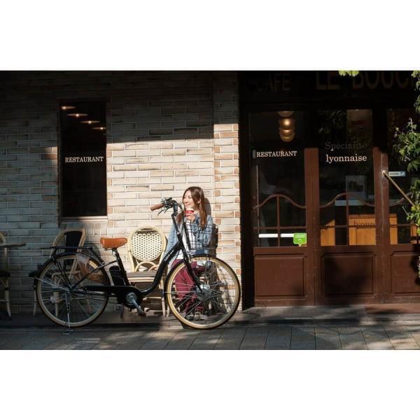 [いま通勤買物に最適]電動自転車おしゃれ ルルベ 26インチ リチウムイオンバッテリー 子供乗せ 安いだけじゃない おしゃれ 低サドル 乗りやすい rakusuku 10