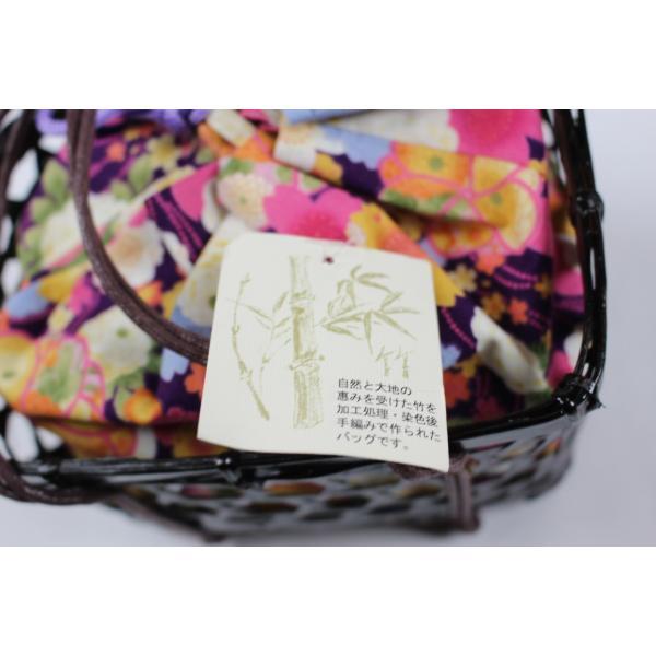 竹かご 巾着 KIW-11 竹籠 かごバック 浴衣 バッグ 訳有品