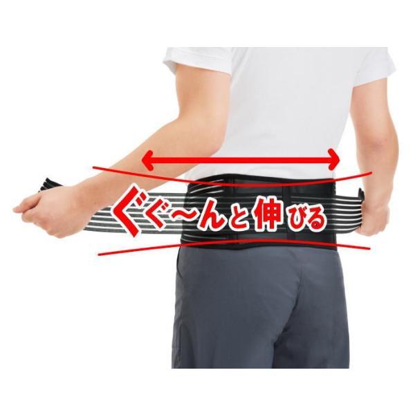 腰サポーター しっかり支える  腰痛 ベルト ダイエット ゆうパケット 送料無料|rankup|02