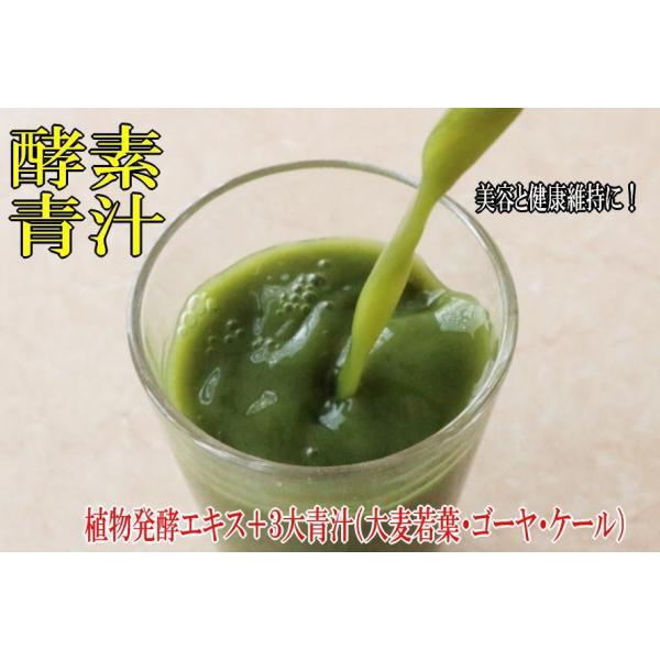酵素青汁 6個セット  青汁 139種配合 健康 粉末 健康食品 健康補助食品 国産 ケール/大葉若葉/ゴーヤ/ブドウ糖  植物発酵エキス+3大青汁 送料無料|rankup|07