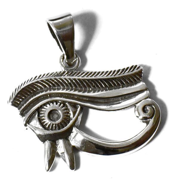 古代エジプト ホルスの眼(ウジャト) スターリングシルバー ペンダントトップ|エジプト|ピラミッド|アフリカ|シルバー925|ネックレス メール便対応可