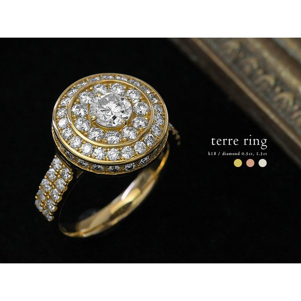 18K リング レディース 指輪 テール ダイヤモンド 1.8ct/G/VS エンゲージリング 婚約 18金 K18 金属アレルギー対応 プレゼント 送料無料 850083_HD