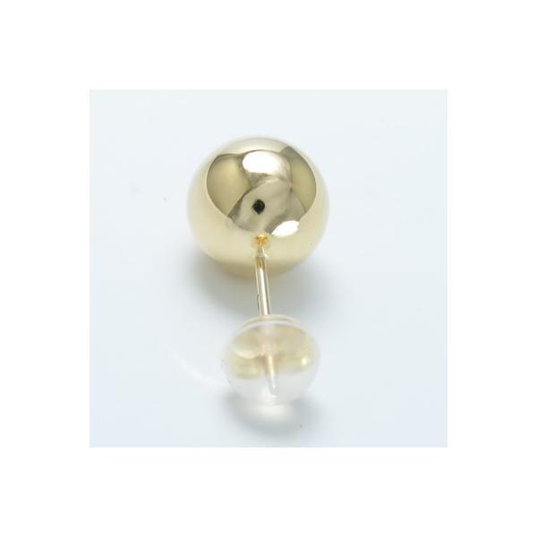 ピアス K18 8mm 地金 ボール ニッケルフリー 送料無料 軸太 0.9mm 0.8ミリ 8ミリ玉 18金 シンプルピアス 高評価