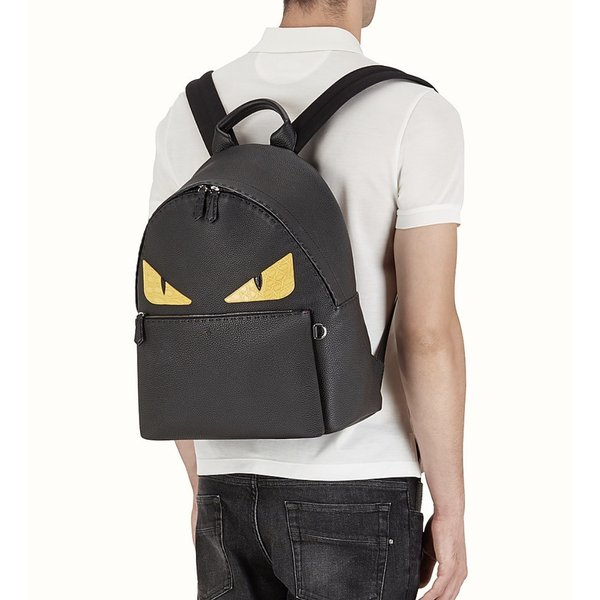 フェンディ FENDI バッグ バック リュックサック バックパック 新作 ブラック シルバー レザー 本革 ロゴ バッグ バグズ