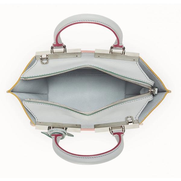 フェンディ FENDI バッグ バック ショルダーバッグ ハンドバッグ 2WAY 新作 パウダーグレー シルバー レザー 本革 ロゴ プチ