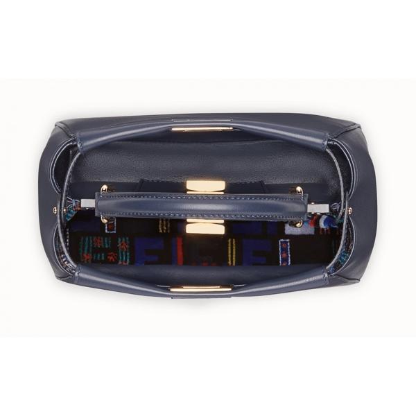 フェンディ FENDI バッグ バック ショルダーバッグ ハンドバッグ 2WAY 新作 ミッドナイトブルー ネイビー ゴールド レザー 本革 ロゴ ミニ