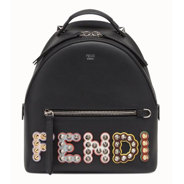 フェンディ FENDI バッグ バック リュックサック バックパック 新作 ブラック シルバー レザー 本革 ナイロン ロゴ スタッズ