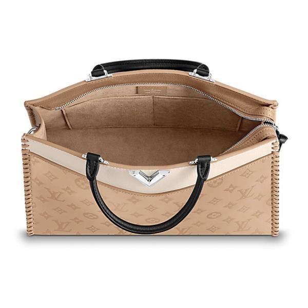 ルイヴィトン LOUIS VUITTON バッグ バック トートバッグ ハンドバッグ ショルダーバッグ 新作 セサミ ベージュ シルバー レザー 本革 LV ロゴ