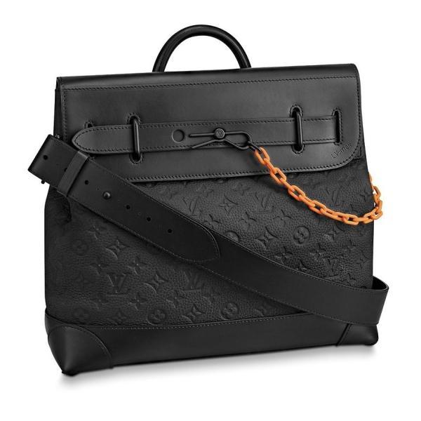 ルイヴィトン LOUIS VUITTON バッグ バック ハンドバッグ ショルダーバッグ 2WAY ブラック オレンジ チェーン レザー