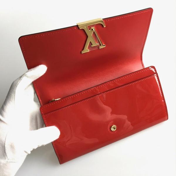new product 19dc1 9df6f ルイヴィトン LOUIS VUITTON 財布 長財布 フラップ かぶせタイプ ...