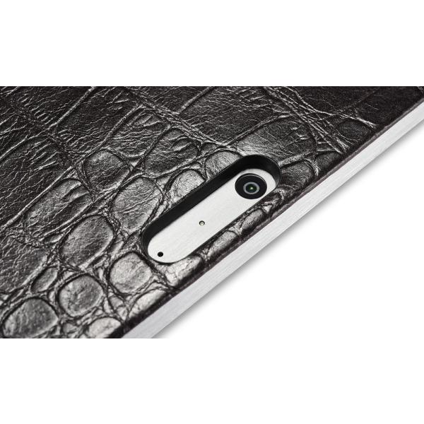 サーフェス プロ6 5 4  surface pro6 ケース カバー 本革 クロコダイル柄 ケース Surface Pro5 レザーケース クロコ型押し 手帳型 ICARER|raremogra|06