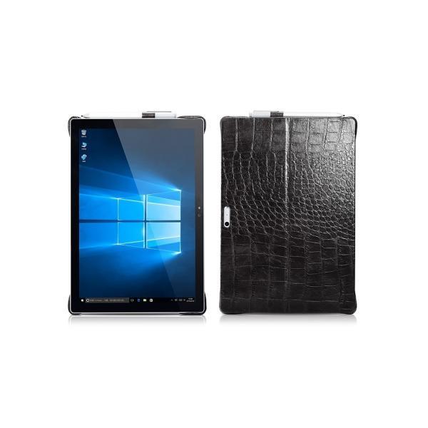 サーフェス プロ6 5 4 Surface Pro6 ケース カバー 本革 Microsoft surfacepro5 レザーケース クロコ型押し クロコダイル柄 ICARER|raremogra|04