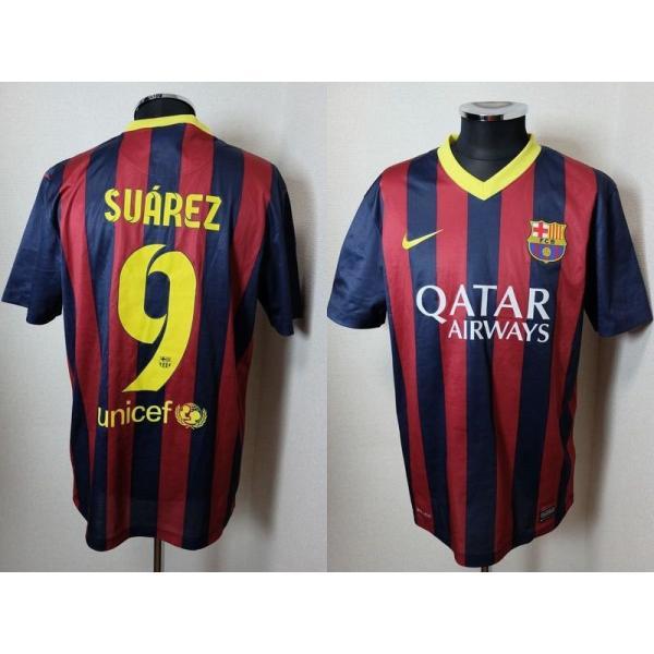 バルセロナ スアレス 13/14観戦用ユニフォーム 532825-411 M バルサ NIKE Barcelona Luis Suarez