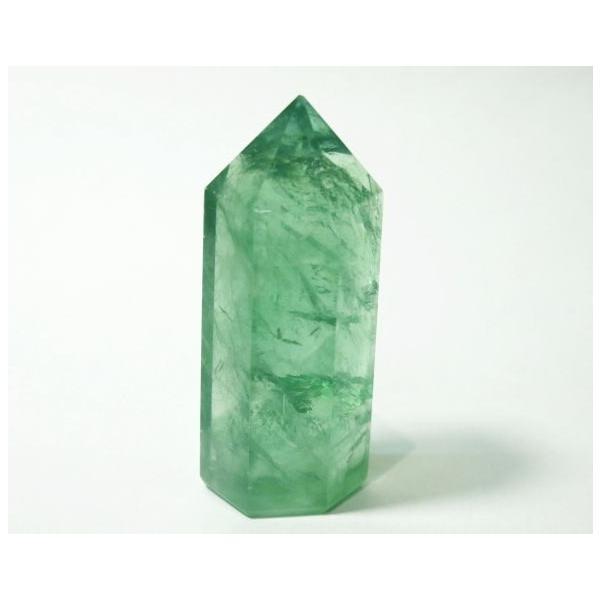 フローライト ポイント 63g 蛍石 パワーストーン 蛍光 緑色 P0628|rarestone
