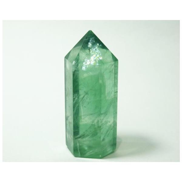 フローライト ポイント 63g 蛍石 パワーストーン 蛍光 緑色 P0628|rarestone|02