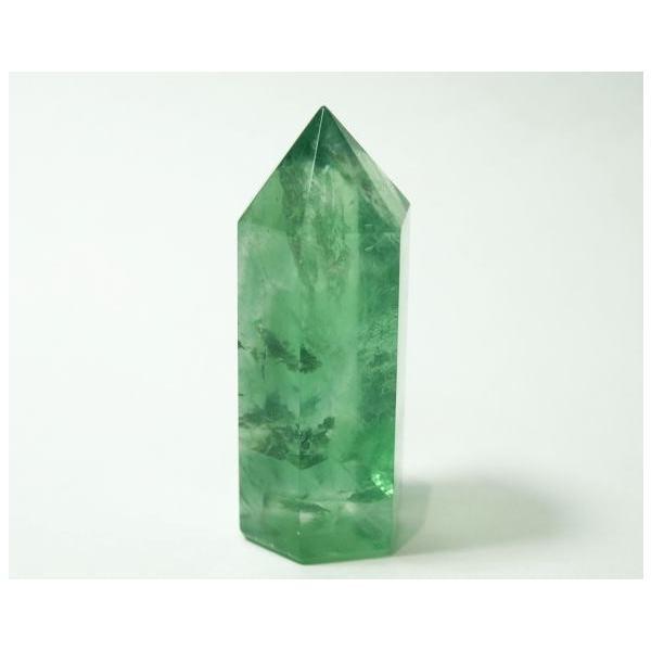 フローライト ポイント 63g 蛍石 パワーストーン 蛍光 緑色 P0628|rarestone|03