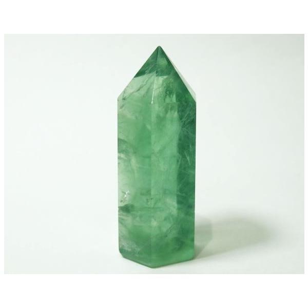 フローライト ポイント 63g 蛍石 パワーストーン 蛍光 緑色 P0628|rarestone|04