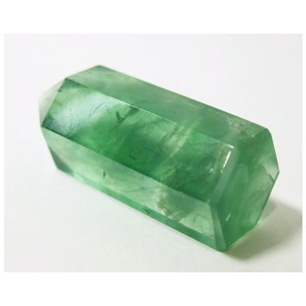 フローライト ポイント 63g 蛍石 パワーストーン 蛍光 緑色 P0628|rarestone|06